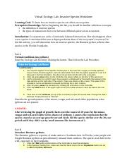 Ecology_Invasive Species_Worksheet