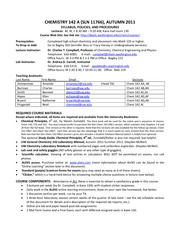 Chem 142A Syllabus Fall 2011 rev4