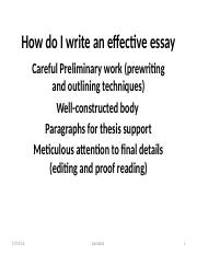 How To Write An Essay  How Do I Write An Effective Essay Careful  How To Write An Essay  How Do I Write An Effective Essay Careful  Preliminary Workprewriting And Outlining Techniques Wellconstructed Body  Paragraphs