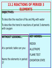 13 1 Reactions Of Period 3 Elements 13 1 Reactions Of