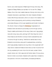 Paper on Sleepy Hollow Script