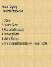 Human Dignity _historical perspective_ copy
