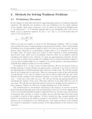 Ch2 Methods for Solving Nonlinear Problems