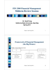 FIN 3300-31 - MIDTERM REVIEW - Scott Fung (Spring 2011)