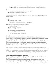 12.9.14 English 120 Final Reflective Essay and Post-Assessment