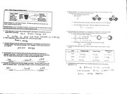 Chemistry worksheet 1
