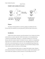 Friedel-Crafts Acylation PostLab