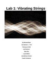 Lab 1 Vibrating Strings