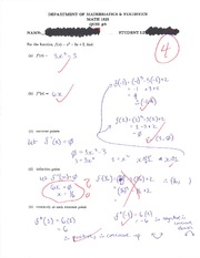 calc MATH 1823 Quiz 5 Solutions