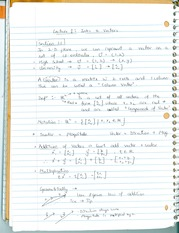 Notes on Introduction to Vectors