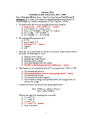 Answer Key Mid-term 2 Version B 2-27-08