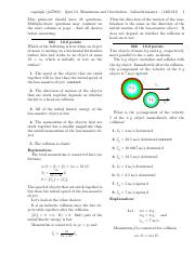 Quiz 10- Momentum and Gravitation-solutions