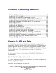 Workshop Solutions