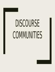 New Discourse Community Assignment.pptx