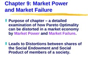 ECN 203 (9), Market Power and Market Failure