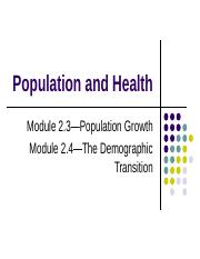 Population growth and the demographic transition.ppt