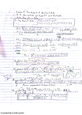 Derivatives of Products and Quotients Notes