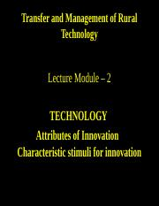 TMRT Lecture Module 2 Technology contd... (2)