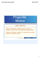 B01 Projectile motion