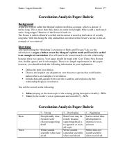 Coevolution Analysis Paper Rubric