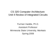 CS 320 Unit 4 Review of Integrated Circuits