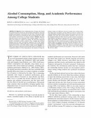 Alcohol consumption, sleep, and academic performance among college students