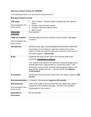 Business Report format for HRM502 (1).doc