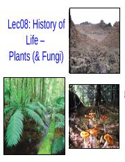 Lec08 History of Life Plants post-1.pptx