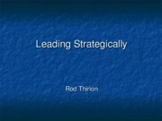 Leading Strategically