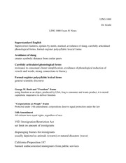 LING 1000 Exam #1 Notes