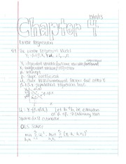 Econometrics Chapter 4 notes