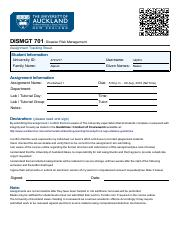 DISMGT 701 - Worksheet 1
