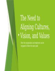 The Need to Aligning Cultures, Vision,.pptx