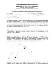 Exam A on Modern Physics For Engineers