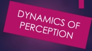 Dynamics of Perception (Presentation)