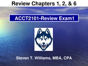Acct2101 - STW_EXAM1_REVIEW_2015Spring-HuskyCT Version(2)