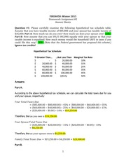 Homework 2 solutions - Income tax, RRSP, TFSA