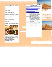 Egypt Travel Brochure