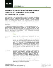 07112014_newadd_RESERVE POWERS OF MANAGEMENT