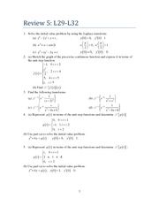 Differential Equations Exam Review (1 of 6)