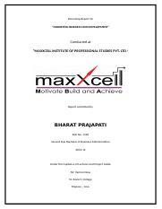 internship report maxxcell