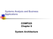 COMP325 CH 09 - System Architecture