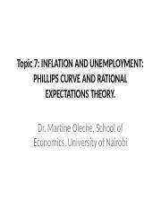 TOPIC 7 Inflation and Unemployment Phillip's Curve and Rational Expectation Theory.ppt