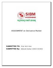 ASSIGNMENT on Derivative Market 2nd.docx