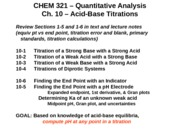 Lecture - Ch10 acid-base titrations