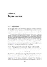Math 103 - chapter12 Taylor Series