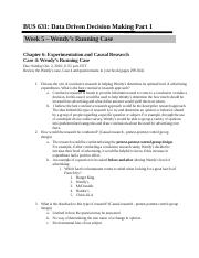BUS 631 Week 5 Wendys Running Case Chapter 6 - Questions (1).docx