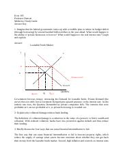Econ 105 Midterm 2 Study Guide Answers
