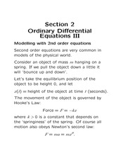 Chapter 2C Ordinary Differential Equations