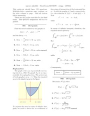 Final Exam REVIEW-solutions